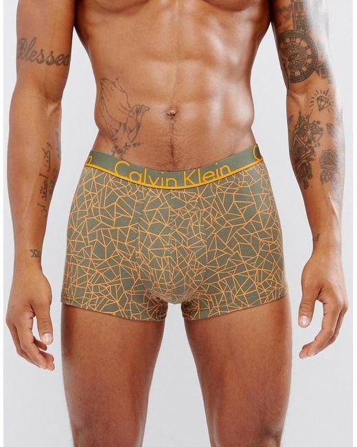 Calvin Klein | Green Trunks Id Cotton for Men | Lyst