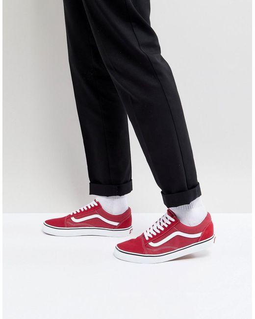 701973c437 Vans Old Skool Sneakers In Red Va38g1q9u in Red for Men - Lyst