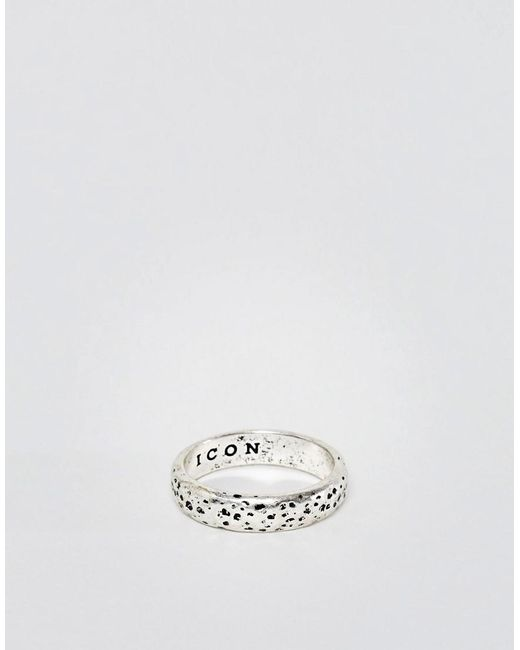 Icon Brand | Metallic Faceted Band Ring In Silver for Men | Lyst