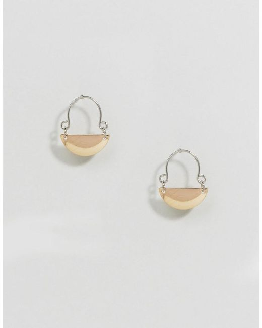 ASOS | Metallic Hinged Plate Earrings | Lyst
