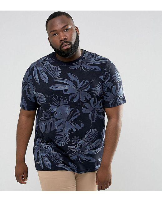 Tommy Hilfiger | Blue Plus Igy T-shirt Flower Print Regular Fit In Navy for Men | Lyst