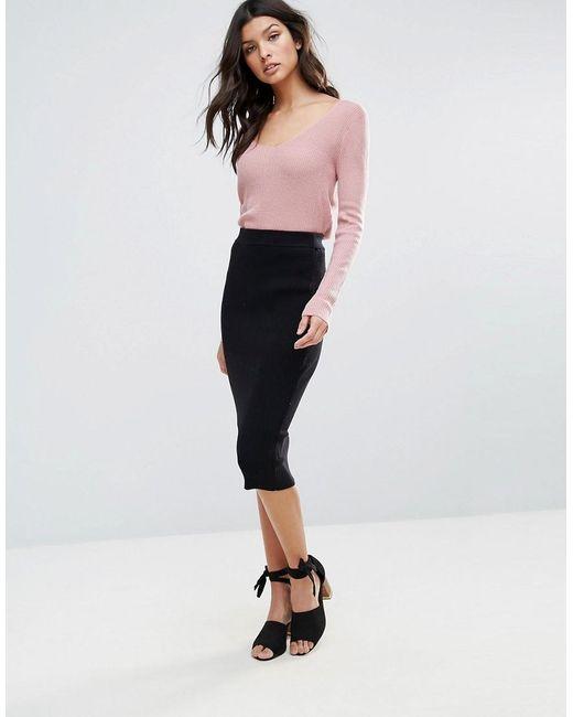 Glamorous | Black Bodycon Skirt | Lyst