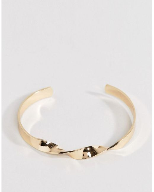 ASOS | Metallic Swirl Cuff Bracelet | Lyst