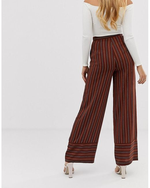 d6dd8fb47e877 ... Boohoo - Multicolor Wide Leg Tailored Trousers In Stripe - Lyst