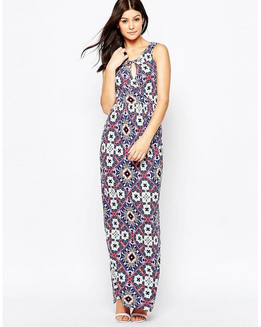 French Connection | Multicolor Electric Mosaic Jersey Maxi | Lyst