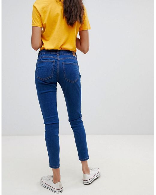 c47a145ce78 ... Bershka - Blue Push Up Jeans - Lyst
