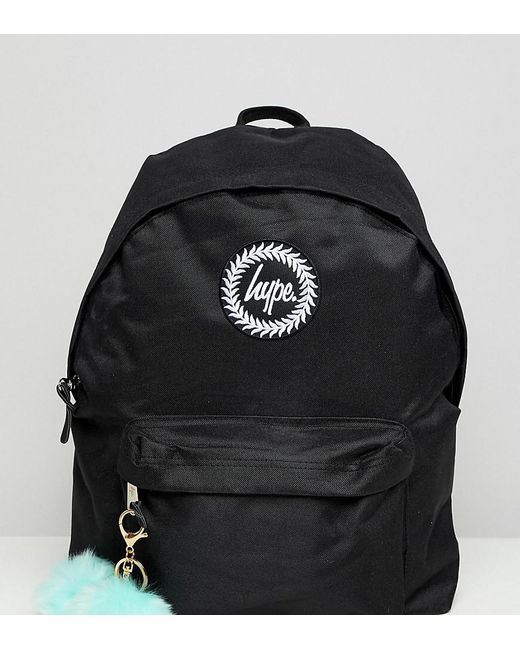 b7ac78e1e7b8 Hype Exclusive Backpack In Black With Teal Pom in Black - Lyst