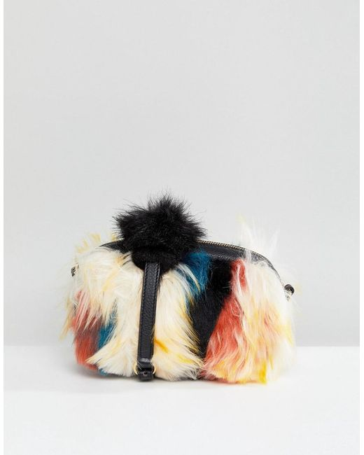 Ugg - Multicolor Janey Faux Fur Patchwork Cross Body Bag - Lyst