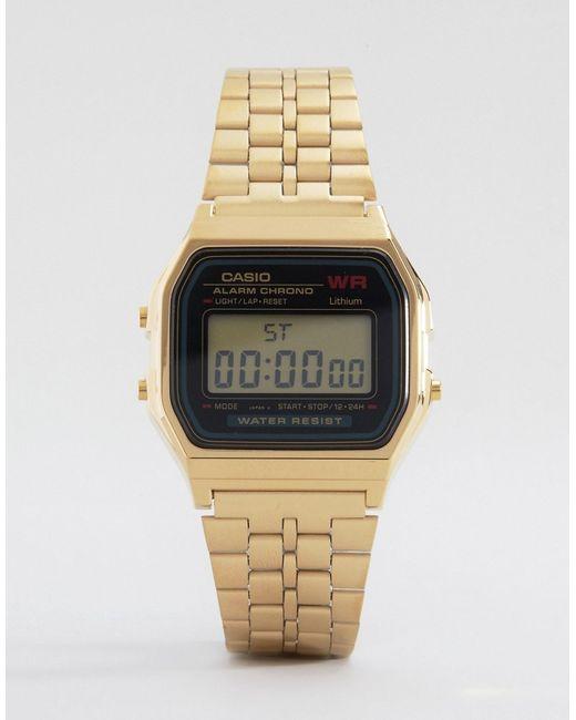 G-Shock   Metallic A159wgea-1ef Gold Digital Watch   Lyst