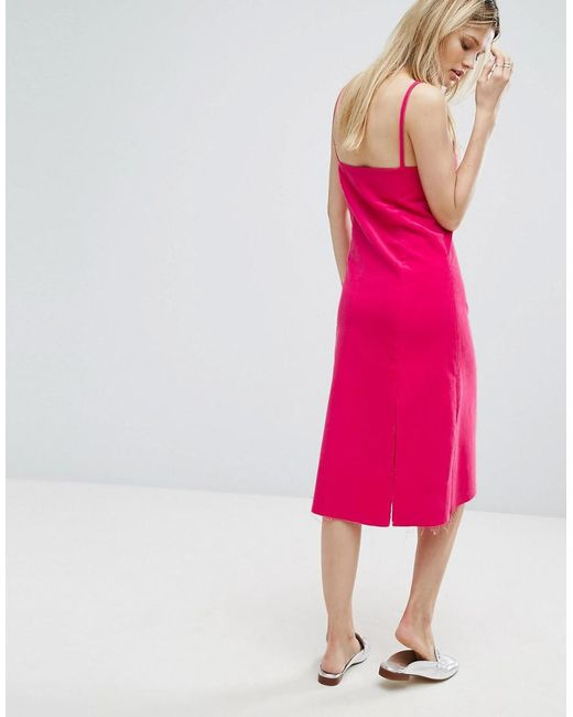 Cheap Sale Countdown Package Outlet Store Sale Online Midi Cami Dress - Pink Outstanding Ordinary Outlet With Paypal Perfect Online Clearance Cheapest J7LFqCa