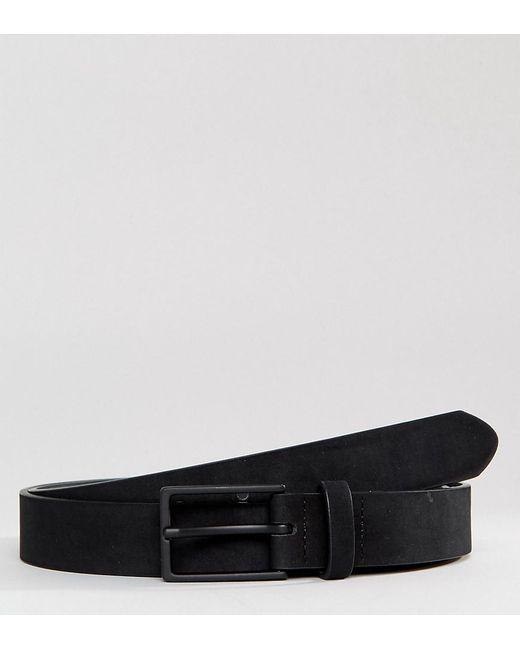 ASOS - Plus Smart Slim Belt In Black Faux Suede for Men - Lyst