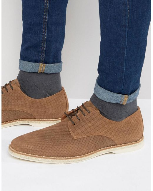 Dune | Brown Barrock Suede Lace Up Shoes for Men | Lyst