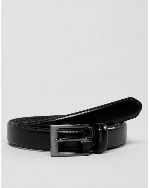 New Look - Faux Leather Smart Belt In Black for Men - Lyst