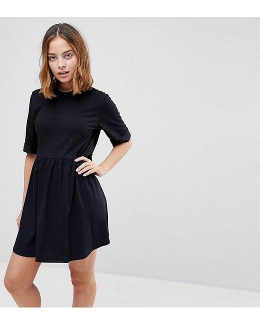 Mini Ultimate Cotton Smock Dress - Black Asos BIJQaZ