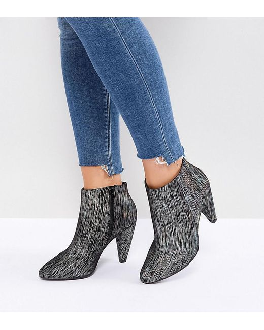 New Look - Multicolor Printed Cone Heeled Ankle Boot - Lyst