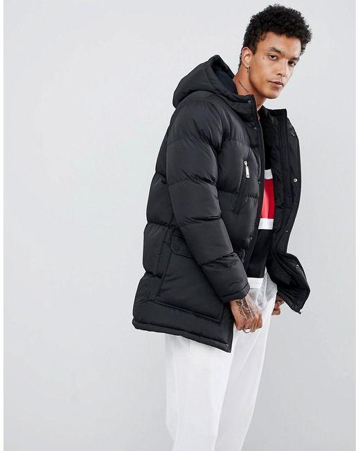 bc8a0a2b4f Criminal Damage Longline Puffer Jacket In Black in Black for Men - Lyst
