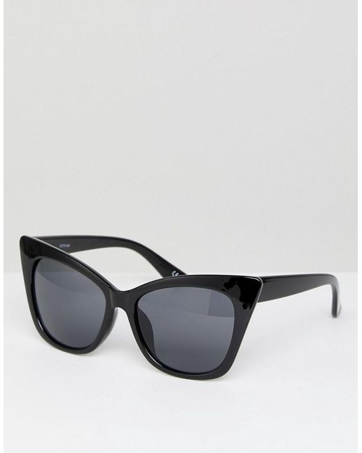 ASOS - Black Basic Cat Eye Sunglasses - Lyst