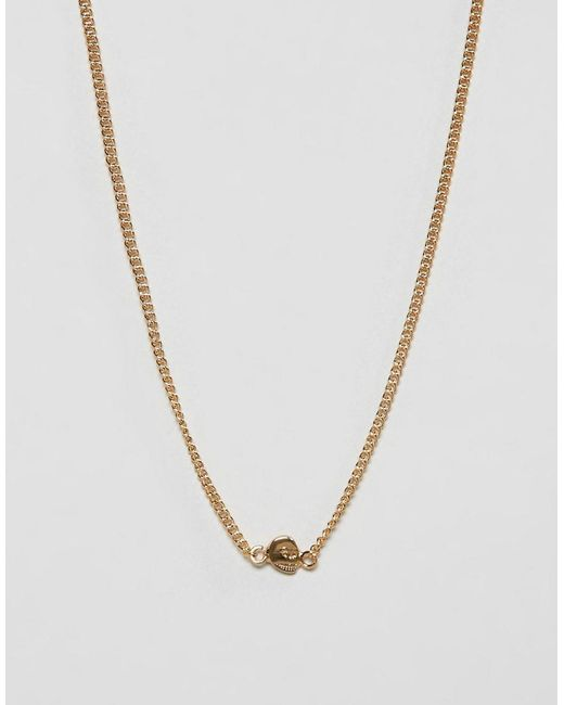 Cheap Monday - Metallic Mini Skull Necklace - Womens All - Lyst
