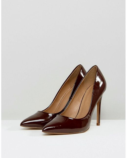 f03f3632114 ASOS Paris Pointed High Heels in Brown - Save 15% - Lyst