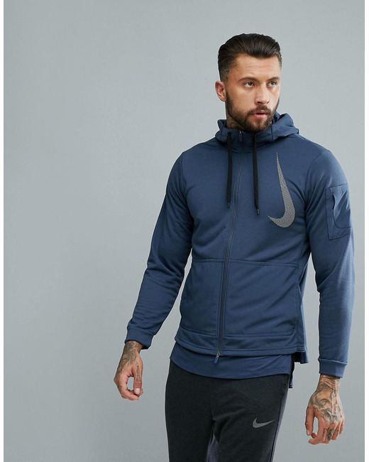 Nike - Blue 'project X' Dry Fleece Hoodie In Navy Aa4656-471 for ...