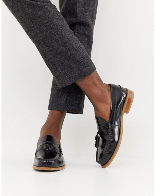 Office - Invasion Tassel Loafers In Black High Shine for Men - Lyst