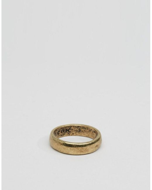 Icon Brand - Metallic Band Ring In Gold for Men - Lyst