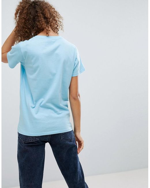 Lyst asos valentines t shirt with heartbreaker print in blue for Asos design free t shirt