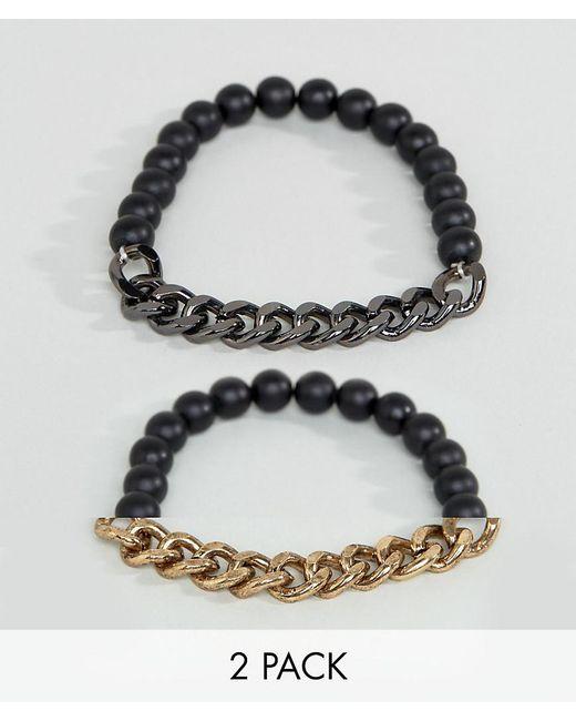 ASOS | Multicolor Bracelet Pack In Mixed Metal Finish for Men | Lyst