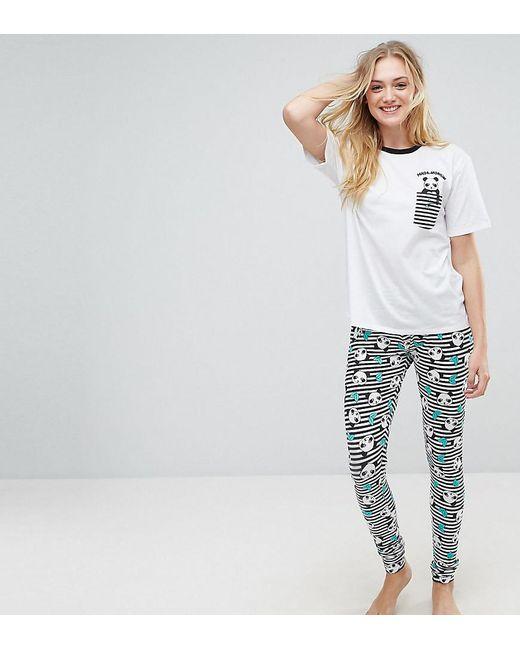 ASOS - White Panda-monium Legging And Tee Pyjama Set - Lyst