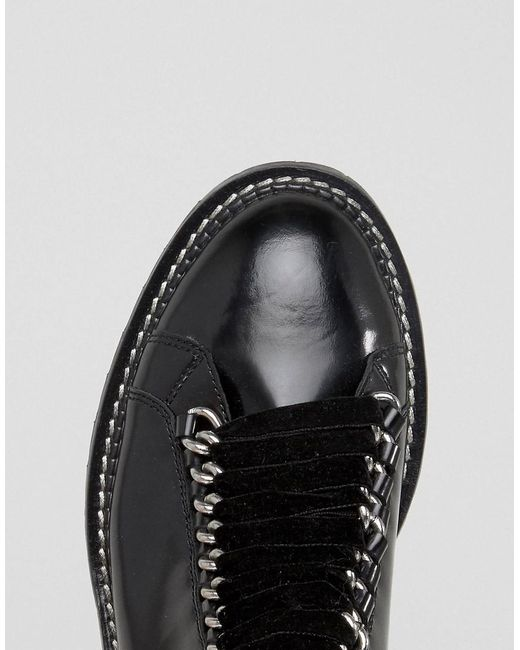 AMELL Leather Lace Up Ankle Boots - Black Asos Footlocker Cheap Price Apj66BdKne