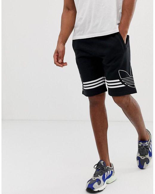 zapatos deportivos e2984 88326 Pantalones cortos de punto con logo de trifolio en negro DU8135 de hombre