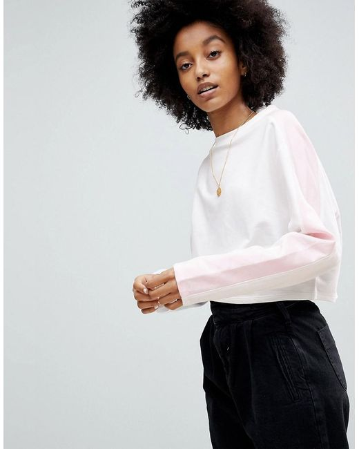 ASOS - Multicolor Asos Sweat In Boxy With Colourblock Panels - Lyst