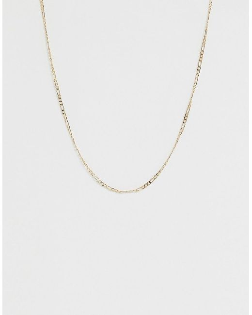 ASOS - Metallic Necklace In Figaro Chain In Gold Tone - Lyst