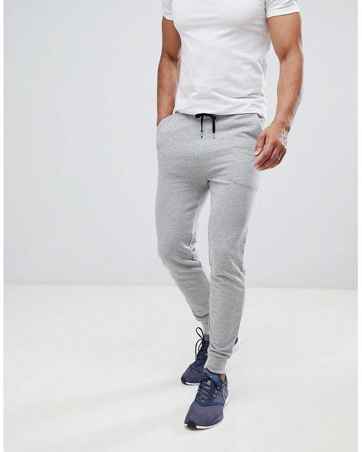 ASOS DESIGN - Gray Skinny Joggers In Grey Marl for Men - Lyst
