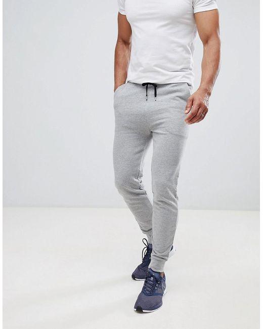 ASOS - Gray Skinny joggers In Grey Marl for Men - Lyst
