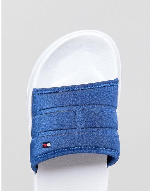 Corporate Logo Neoprene Pool Slider in Blue/White - Monaco blue Tommy Hilfiger 7U9xR