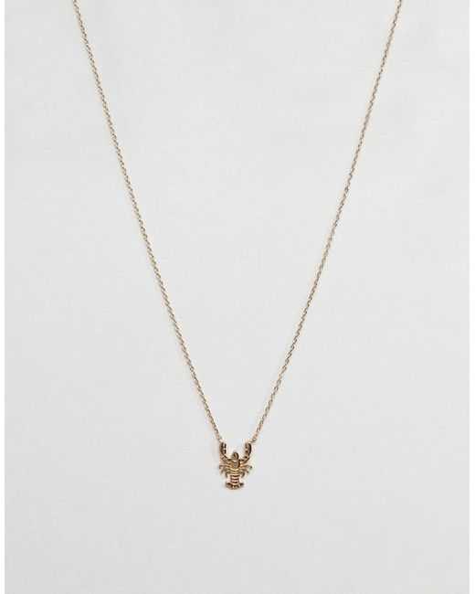ASOS - Metallic Lobster Necklace - Lyst