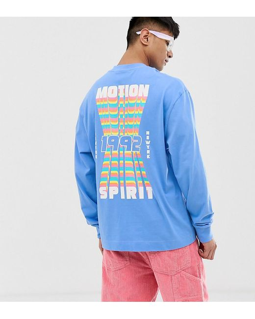 e2d4f5a4ed4 Collusion - Blue Long Sleeve T-shirt With Back Print for Men - Lyst ...