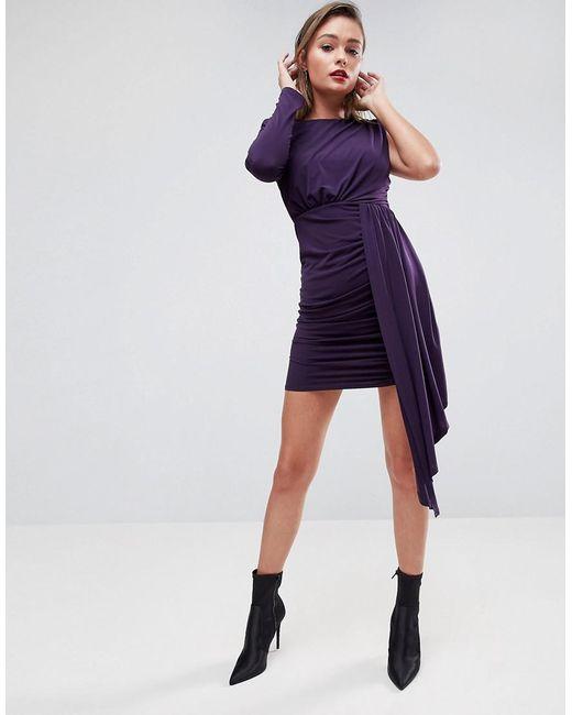 Open Back Shoulder Pad Slinky Mini Dress - Purple Asos Shopping Online Cheap Price DMOGGbIl