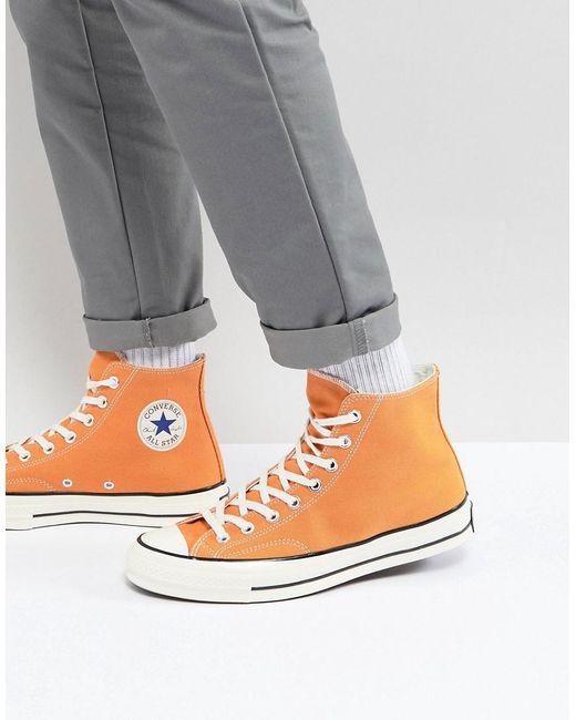 Converse - Chuck Taylor All Star 70 Hi Plimsolls In Orange 159622c for Men - Lyst