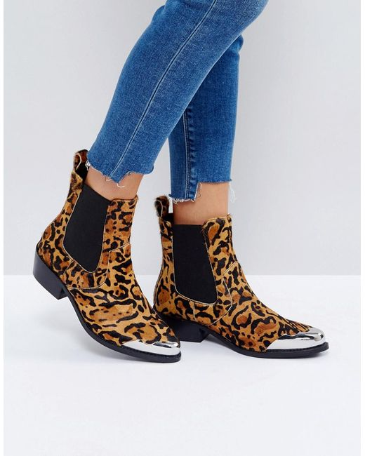 ASOS | Multicolor Amberley Leather Western Chelsea Boots | Lyst