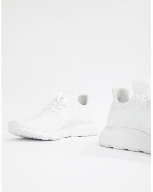 2014 unisex sale online adidas Originals Swift Run Trainers In White B37725 buy cheap pictures MzBu8M
