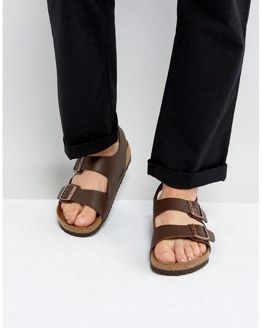 Birkenstock | S Milano Sandals In Dark Brown for Men | Lyst