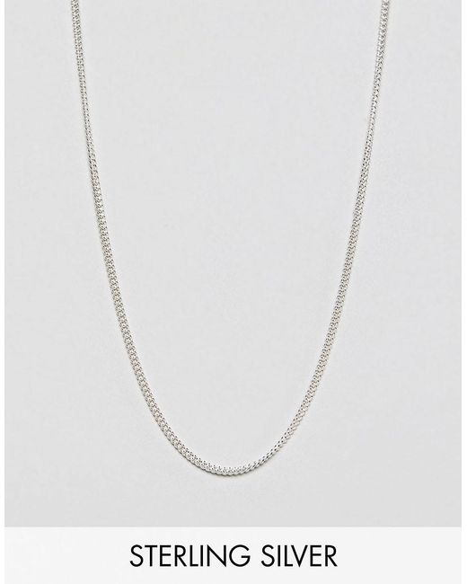 ASOS - Metallic Short Sterling Silver Necklace for Men - Lyst