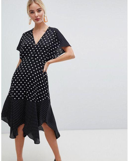 Whistles - Black Enise Multi Polka Dot Dress - Lyst
