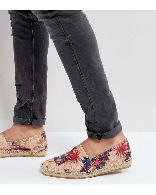 H by Hudson   Natural Exclusive For Asos Palm Print Espadrilles   Lyst