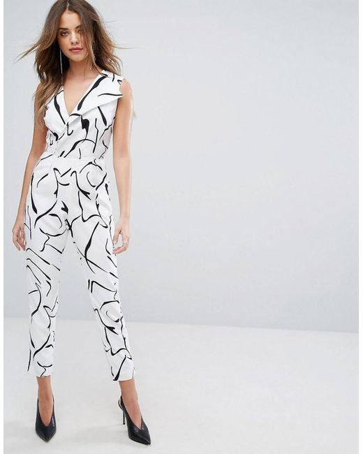 Lavish Alice | Multicolor Tailored Jumpsuit In Abstract Print | Lyst