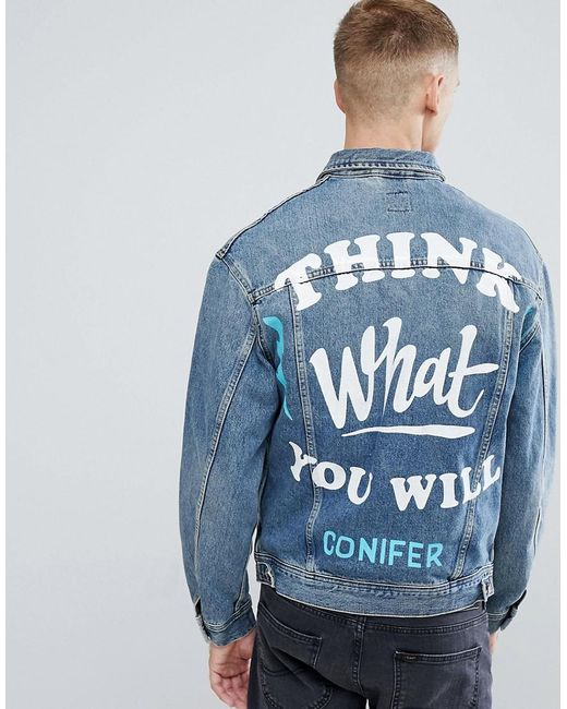 Lee Jeans - Blue X Conifer Oversized Rider Denim Jacket for Men - Lyst