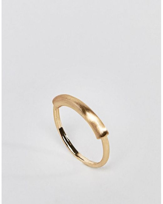 ASOS | Metallic Sleek Tube Bar Ring | Lyst