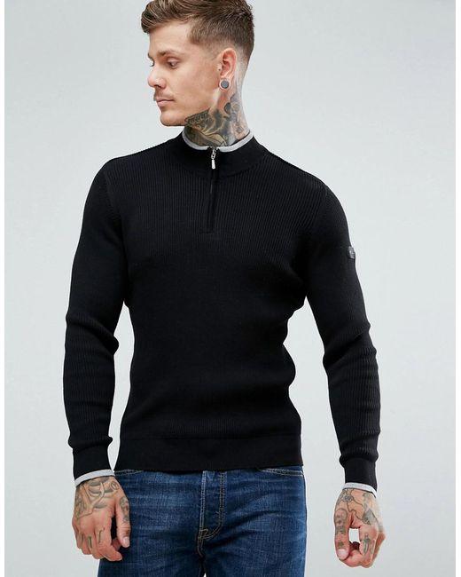 Ben Sherman | Black Zipped High Neck Sweater for Men | Lyst